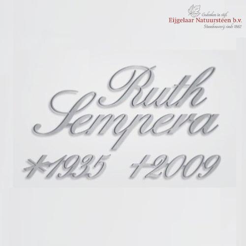 RVS lettertypen