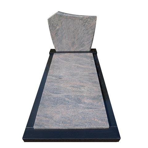 Goedkope grafsteen zwart graniet met himalaya