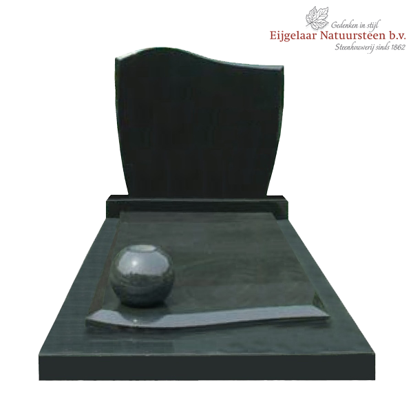 Grafmonument geheel zwart graniet model e033 - Zwart granieten werkblad prijs ...