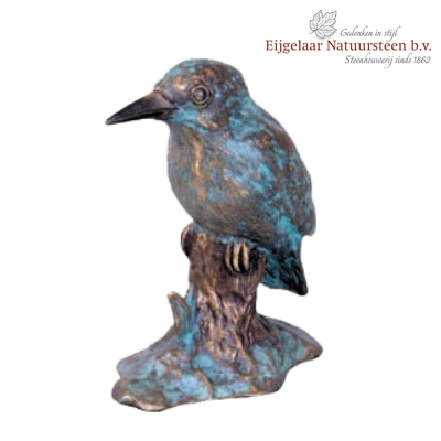 grafornament ijsvogel, bronzen ijsvogel