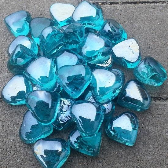 Hartvormige glassteentjes