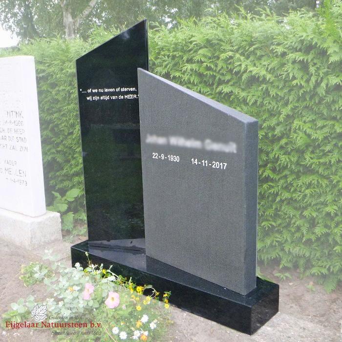 Grafsteen modern 2 zuilen