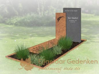 Grafmonument Cortenstaal model 2016-140