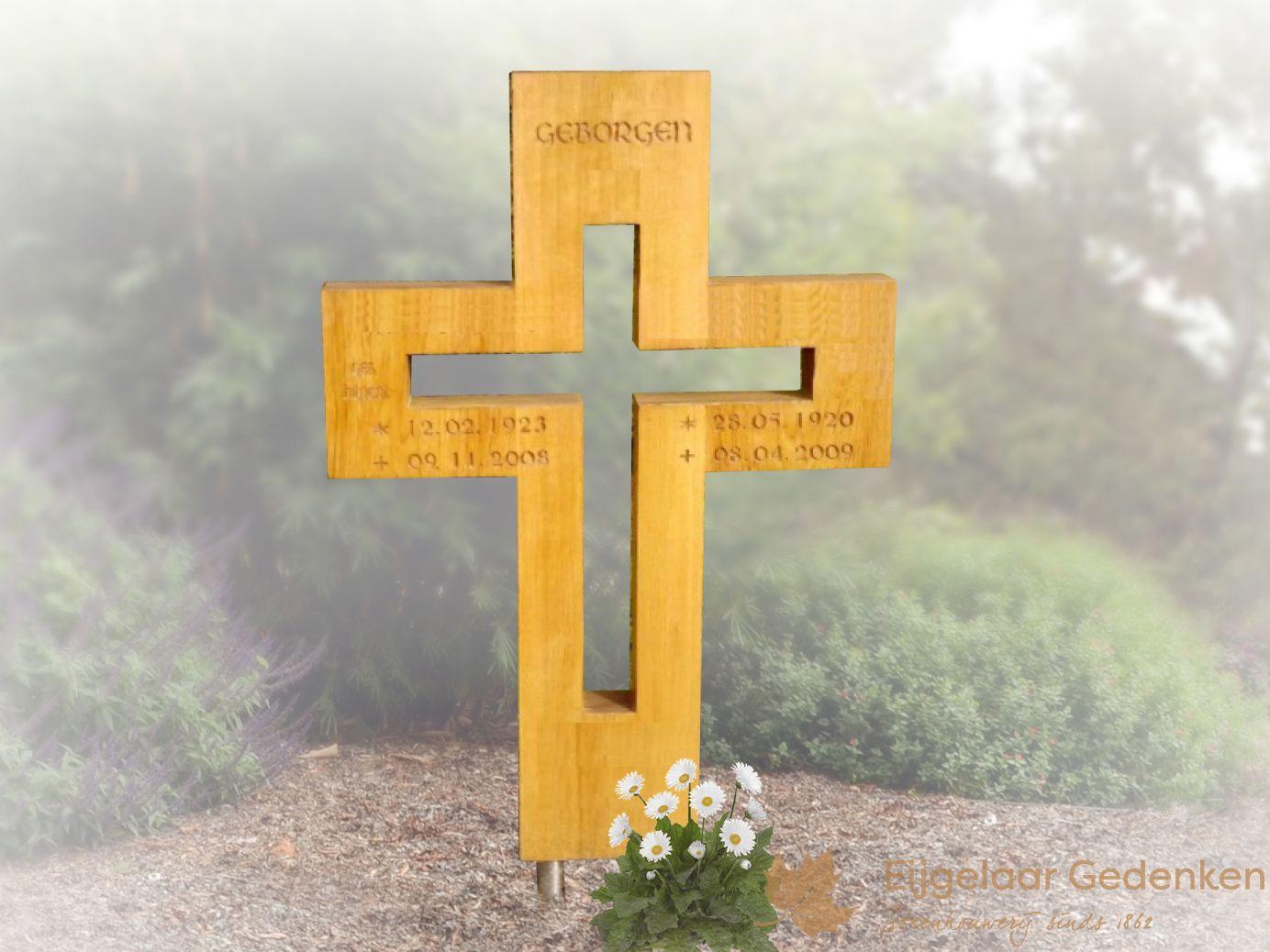 Verbazingwekkend Grafsteen hout 02 | Houten kruis | Eijgelaar Gedenken | 43955 LP-52